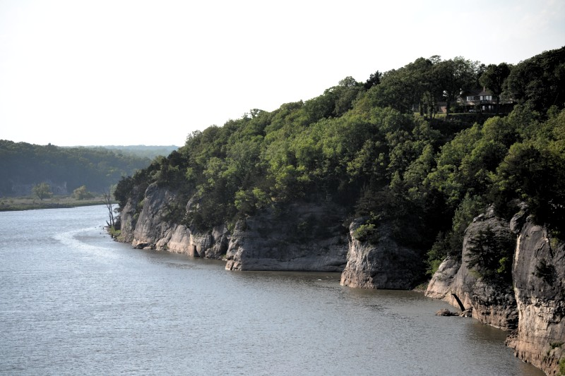 Scenic overlook of the Osage River
