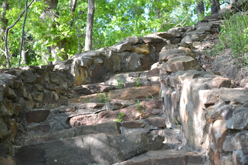 Steps to the Scenic Osage River Lookout