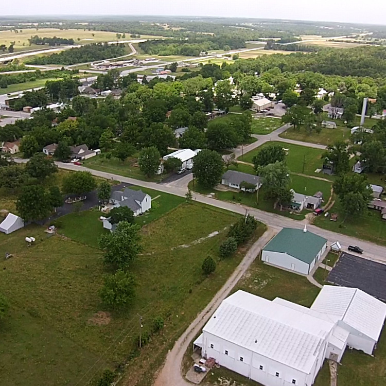 Aerial View of Collins, MO