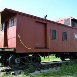 Train along Hwy 13 in Osceola